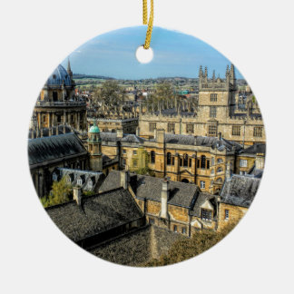 Radcliffe Camera and Bodleian Library Oxford Round Ceramic Decoration