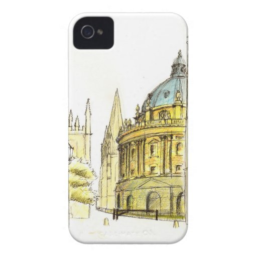 Radcliffe Camera original drawing iPhone 4 Covers
