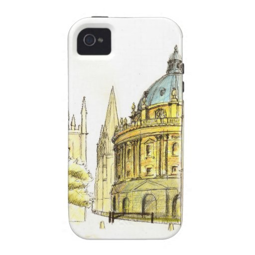 Radcliffe Camera original drawing iPhone 4 Cases
