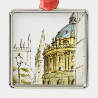Radcliffe Camera original drawing Christmas Ornament