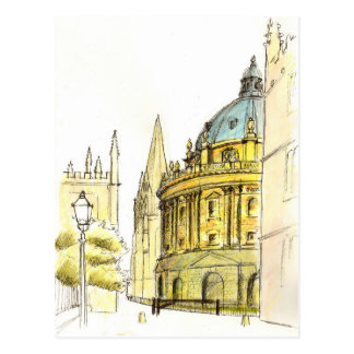 Radcliffe Camera original drawing Postcard