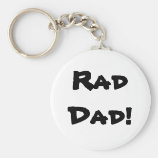 RadDad! Basic Round Button Key Ring