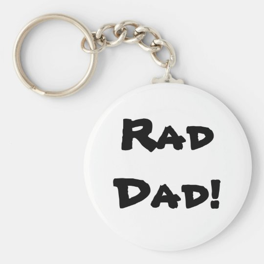 RadDad! Basic Round Button Key Ring
