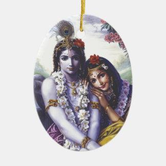 Radha and Krishna Christmas Ornament