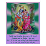 Radha and Krishna Posters
