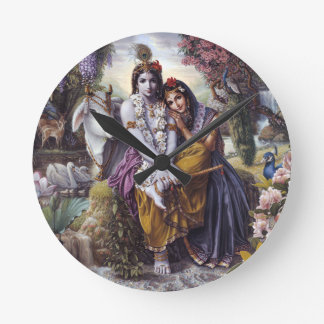Radha and Krishna Round Clock