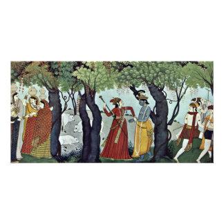 Radha Krishna Arrested By Indischer Maler Um 1770 Picture Card