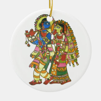Radha Krishna Christmas Ornament