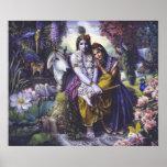 Radha & Krishna -The Divine All-Attractive Couple Poster