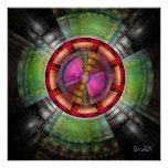 Radial abstract poster