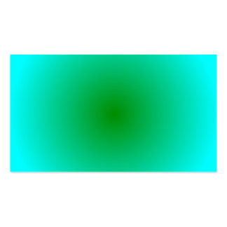 Radial Gradient - Cyan and Green Business Card