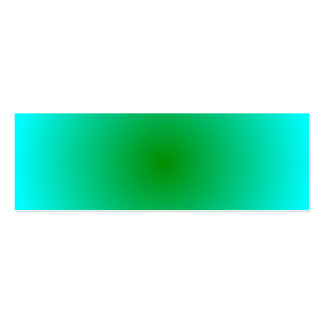 Radial Gradient - Cyan and Green Business Card Templates