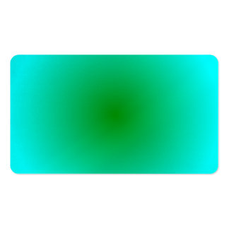 Radial Gradient - Cyan and Green Business Card Template