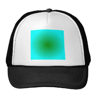 Radial Gradient - Cyan and Green Trucker Hats