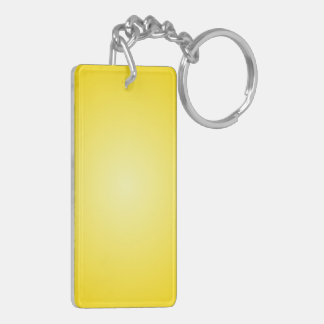 Radial Gradient - Dark Yellow and Light Yellow Rectangular Acrylic Key Chains