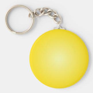Radial Gradient - Dark Yellow and Light Yellow Key Chain