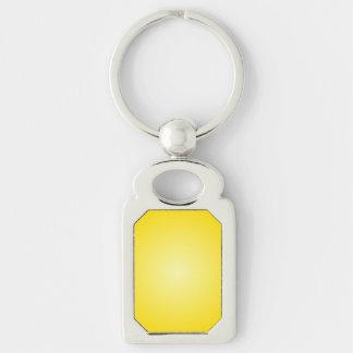 Radial Gradient - Dark Yellow and Light Yellow Keychains