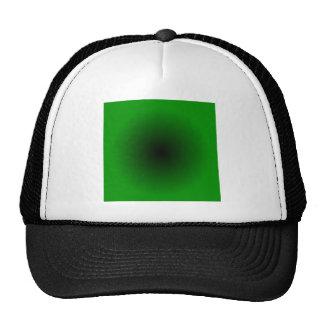 Radial Gradient - Green and Black Trucker Hat