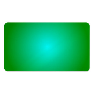 Radial Gradient - Green and Cyan Business Cards