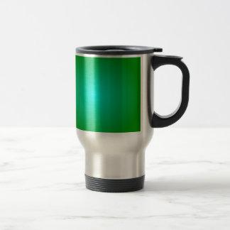 Radial Gradient - Green and Cyan Coffee Mugs