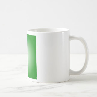 Radial Gradient - Green and White Mug