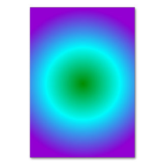 Radial Gradient - Violet, Cyan, Green Table Cards