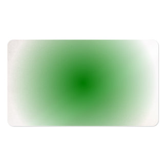 Radial Gradient - White and Green Business Card
