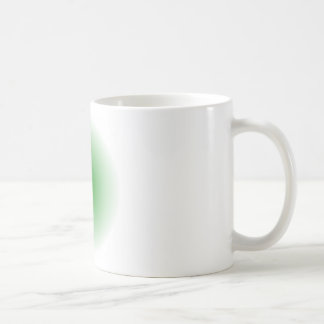 Radial Gradient - White and Green Coffee Mugs