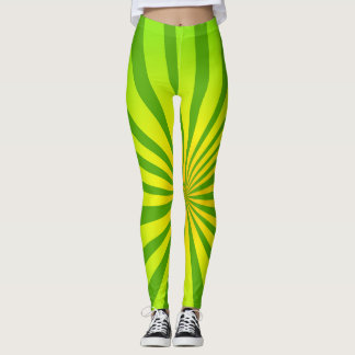 Radial green leggings