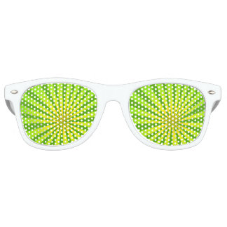 Radial green retro sunglasses