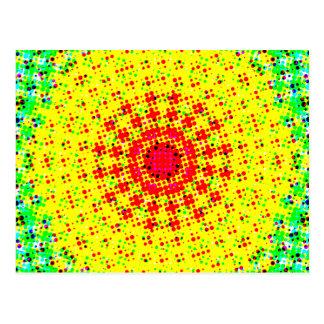 Radial Halftone Pattern: Postcard