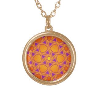 Radial Sun Flower Pattern Necklace