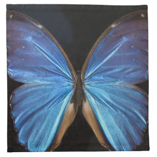 Radiant Blue Butterfly Napkin