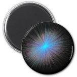 Radiant Blue Starburst Magnet