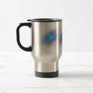 Radiant Blue Starburst Mugs