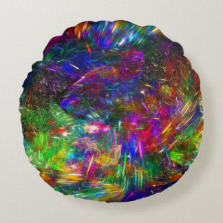 Radiant Crystals Round Cushion