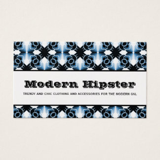 Radiant Extravagance Business Card, Vibrant Blue Business Card