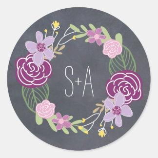 Radiant Florals Favor Sticker