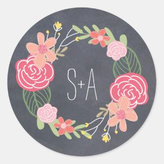 Radiant Florals Favor Sticker Sticker