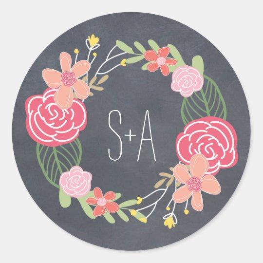 Radiant Florals Favour Sticker