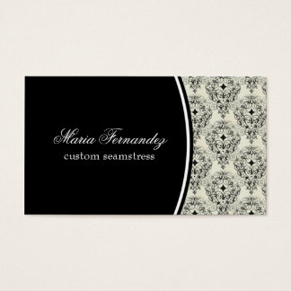 Radiant Glam Business Card, Black Business Card
