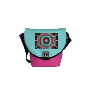 radiant  glow colors messenger bag