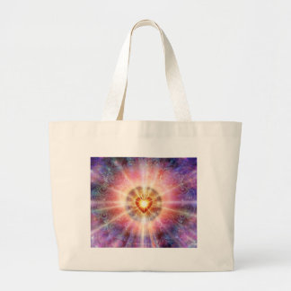 Radiant Heart Large Tote Bag