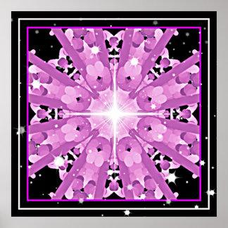 *~* Radiant Lavender Violet Ray Mandala Poster
