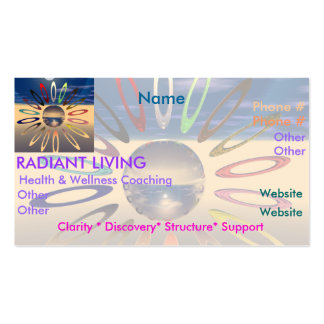 Radiant Living Business Card Templates