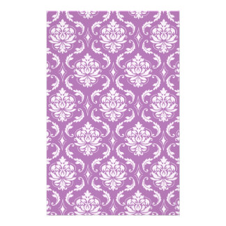 Radiant Orchid Classic Damask Pattern Full Color Flyer