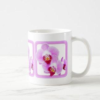 Radiant Orchid Closeup Photo with Square Frame Basic White Mug