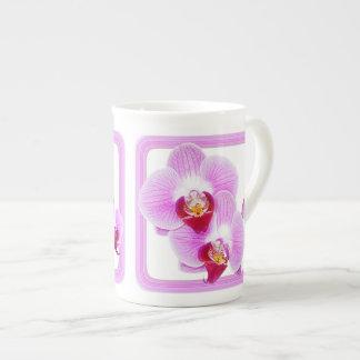 Radiant Orchid Closeup Photo with Square Frame Bone China Mug