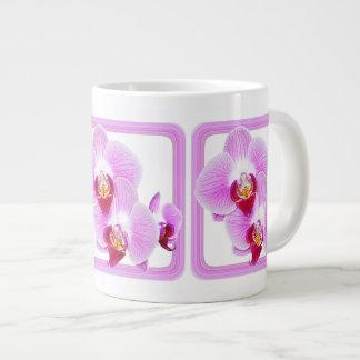 Radiant Orchid Closeup Photo with Square Frame Jumbo Mug