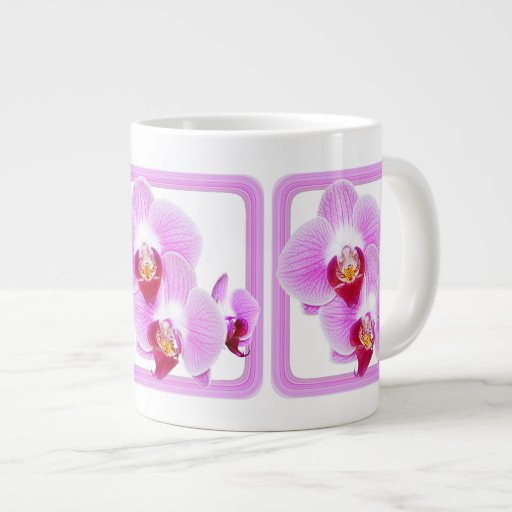 Radiant Orchid Closeup Photo with Square Frame Jumbo Mugs